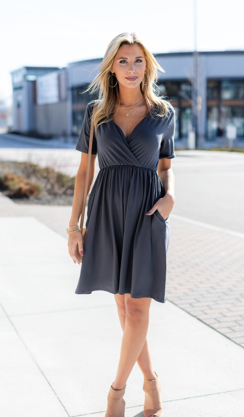 The Little Things Dress, Ash Grey
