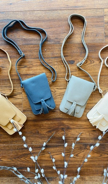 Day Trip Crossbody, Beige, Ivory, Jean or Light Grey