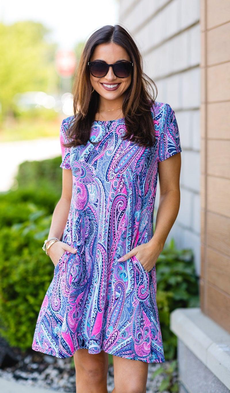 Sea View Dress, Multi Print