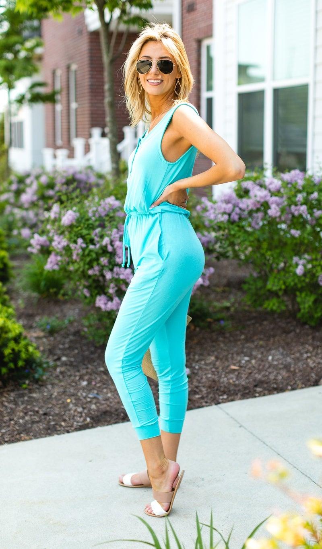 The Sporty Chic Jumpsuit, Mint