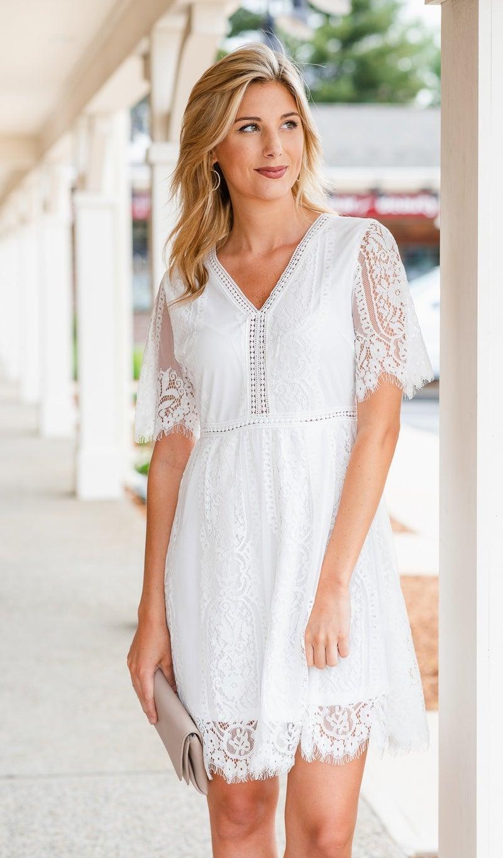 Favorite Crush Dress, White