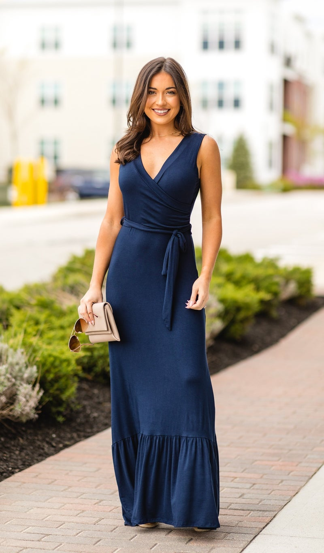 The Rebecca Dress, Navy