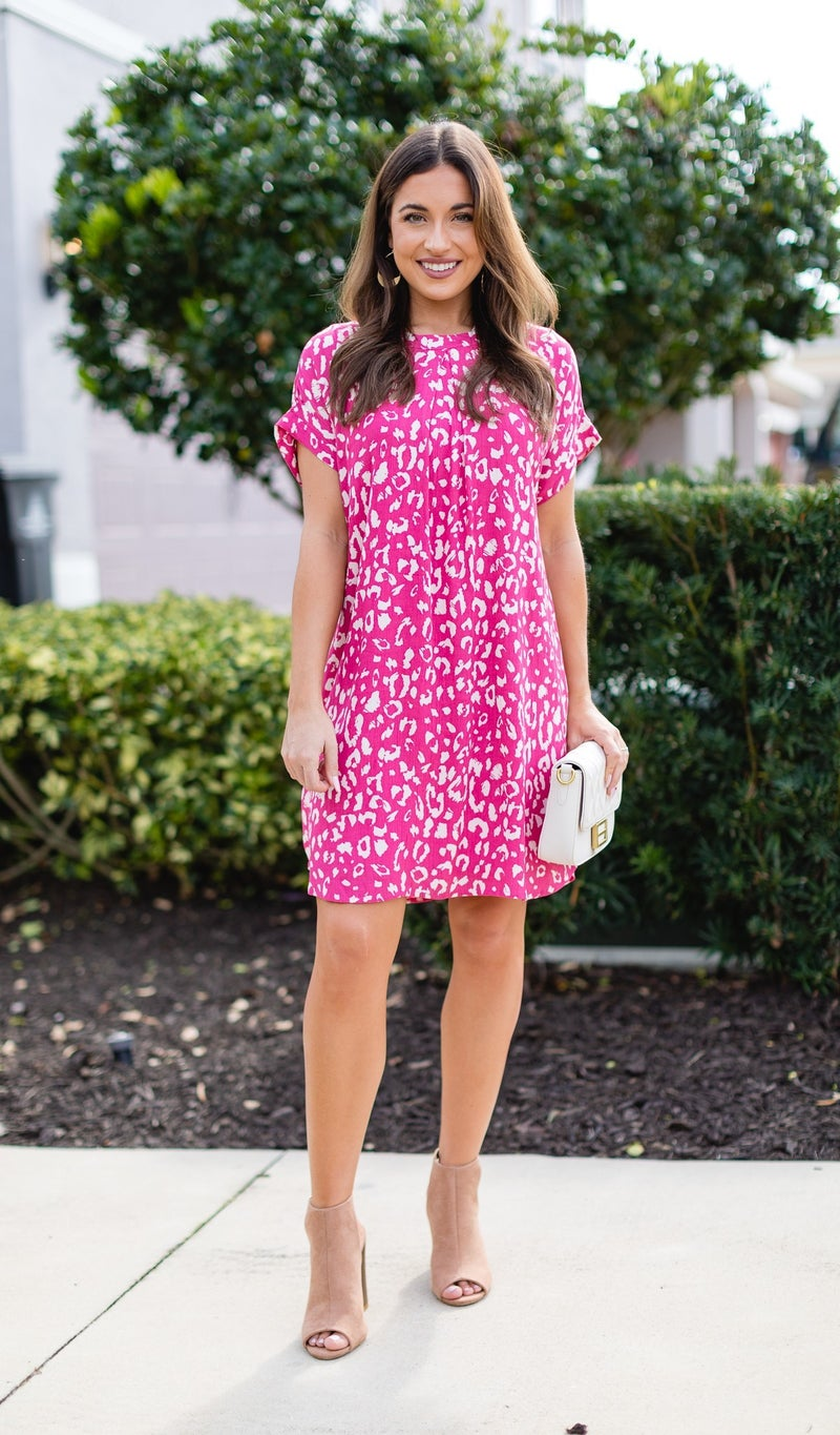 The Lottie Dress, Hot Pink