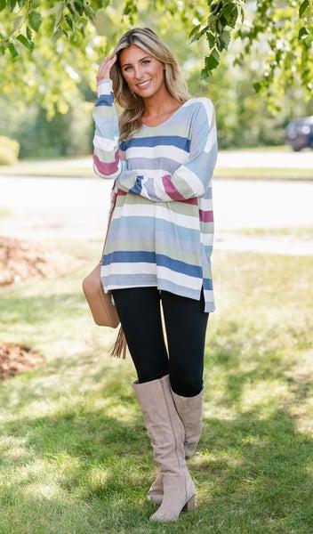 Cozy Cool Tunic, Stripe
