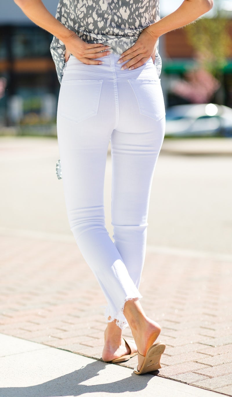 Fit For All High-Rise Jean, White