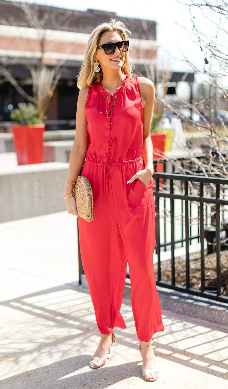 All Occasions Jumpsuit, Red