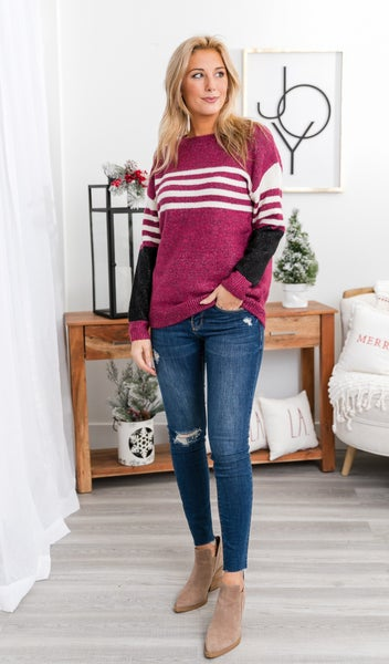 Fancy Friday Sweater, Mauve