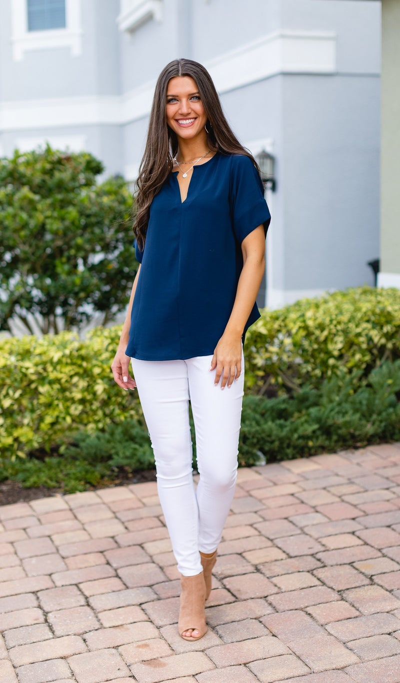 Call This Classic Top, Navy