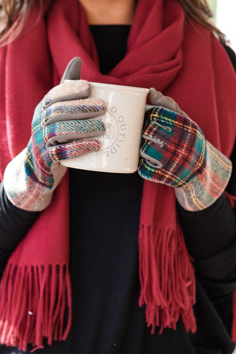 Keep Me In Mind, Red Scarf & Gloves BUNDLE