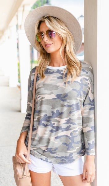 Wild For Camo Top, Green