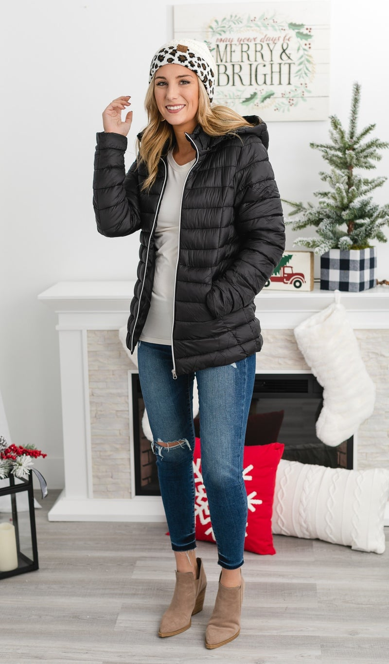 The Classic Puffer Jacket, Black
