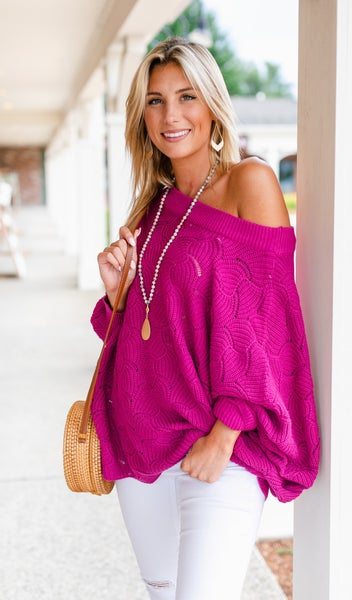 Dreamers Ahead Sweater, Magenta