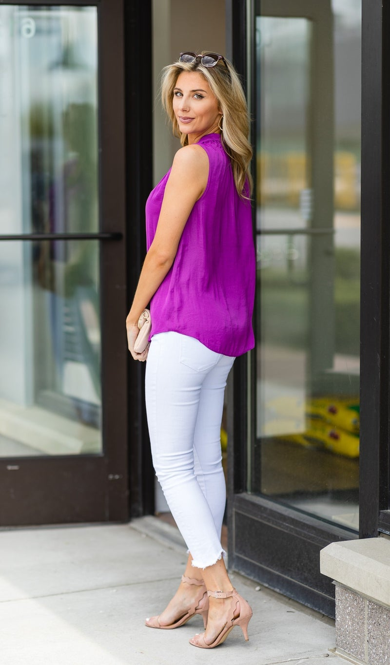 Brunch Ready Blouse, Mulberry