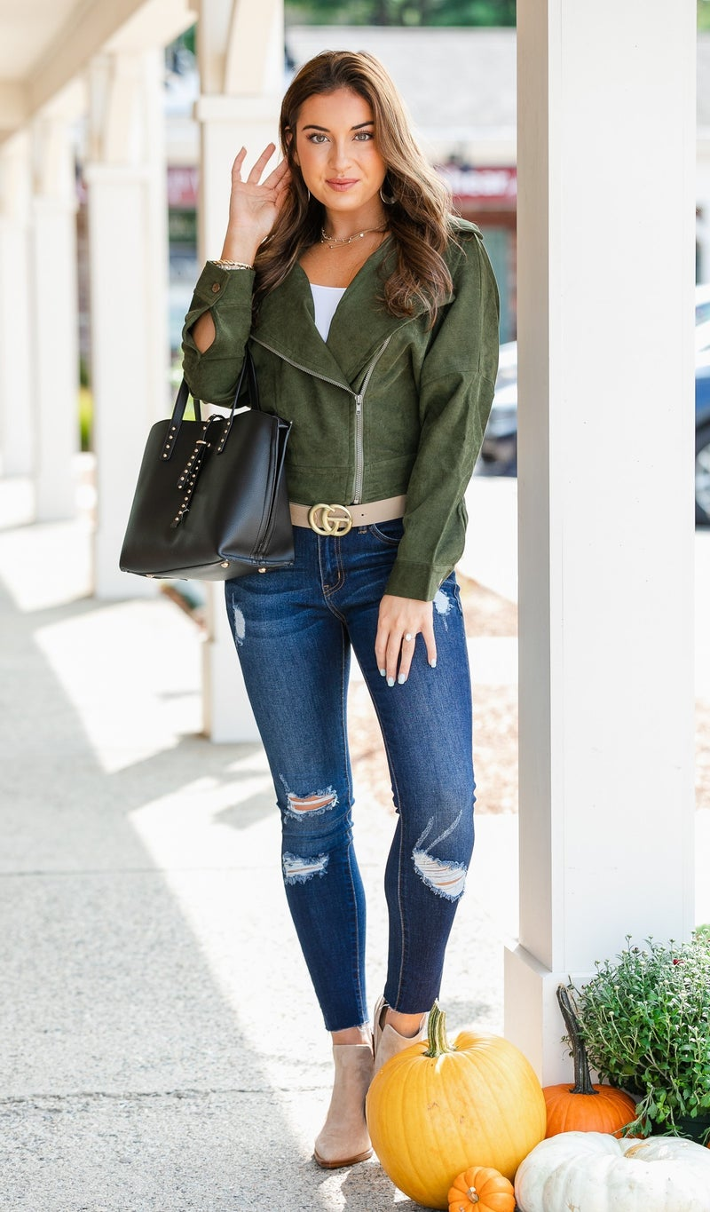 Brunch Ready Jacket, Olive or Camel