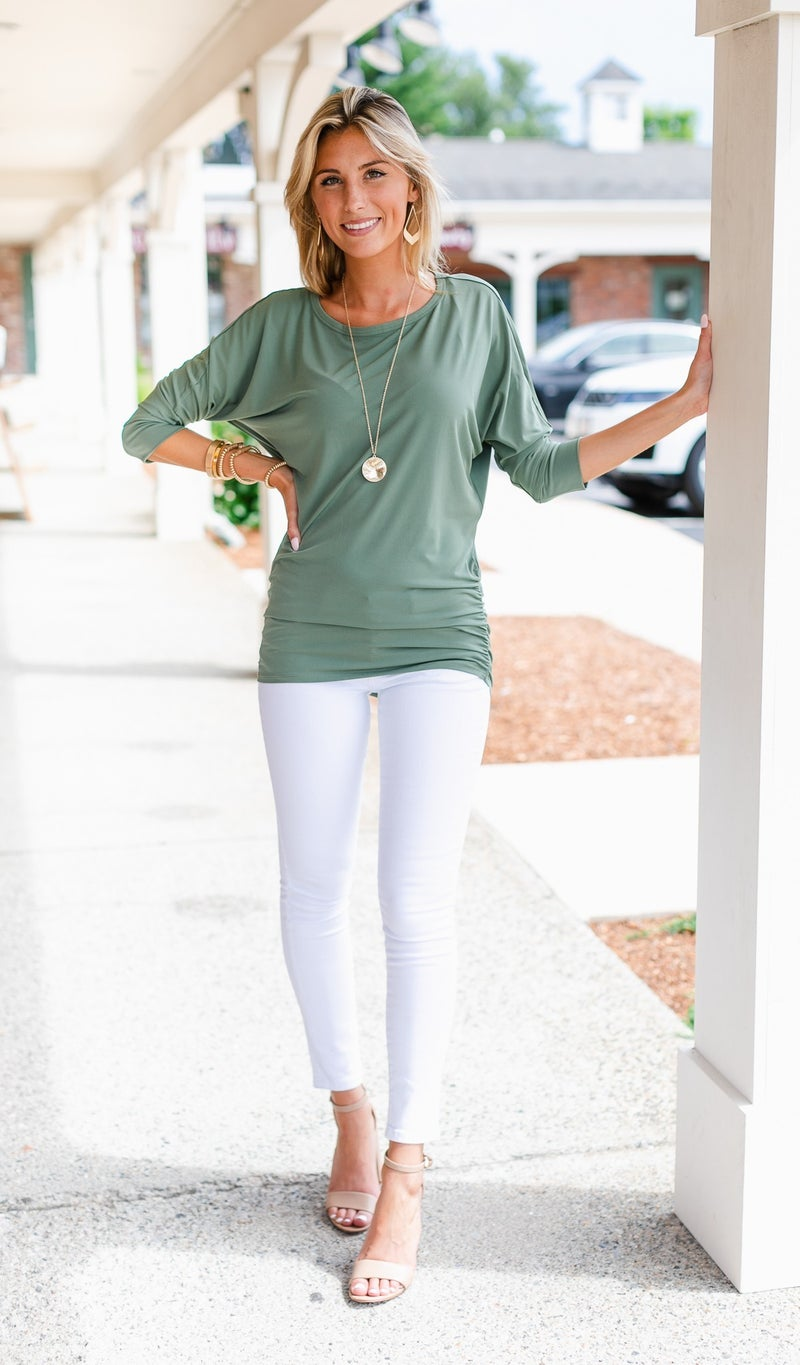 My Go-To Top, Mocha or Olive