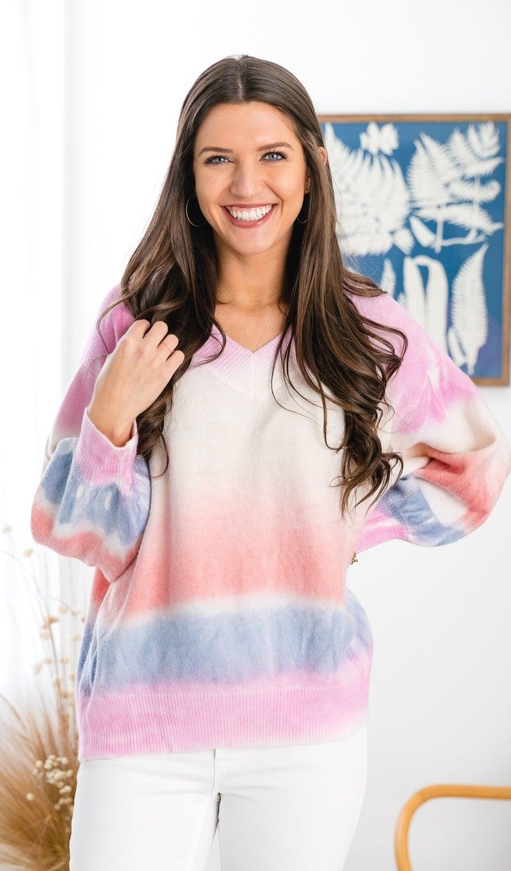 Winter Tie Dye Top, Multi *Final Sale*