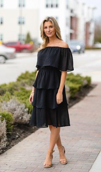 Midnight Stroll Dress, Black *Final Sale*