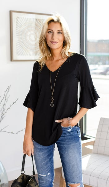 The New Way Top in Black