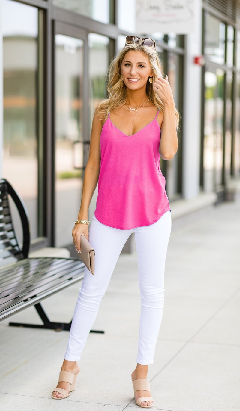 Cool Catch Tank, Hot Pink