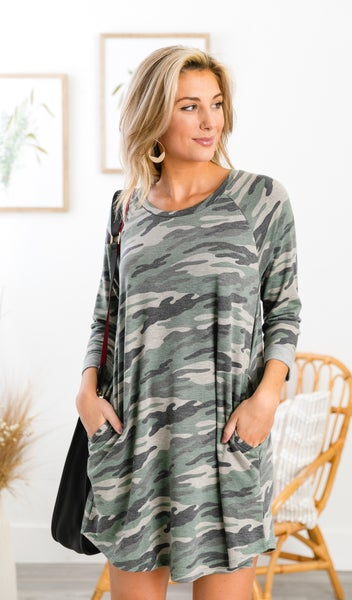 All Or Nothing Dress, Camo