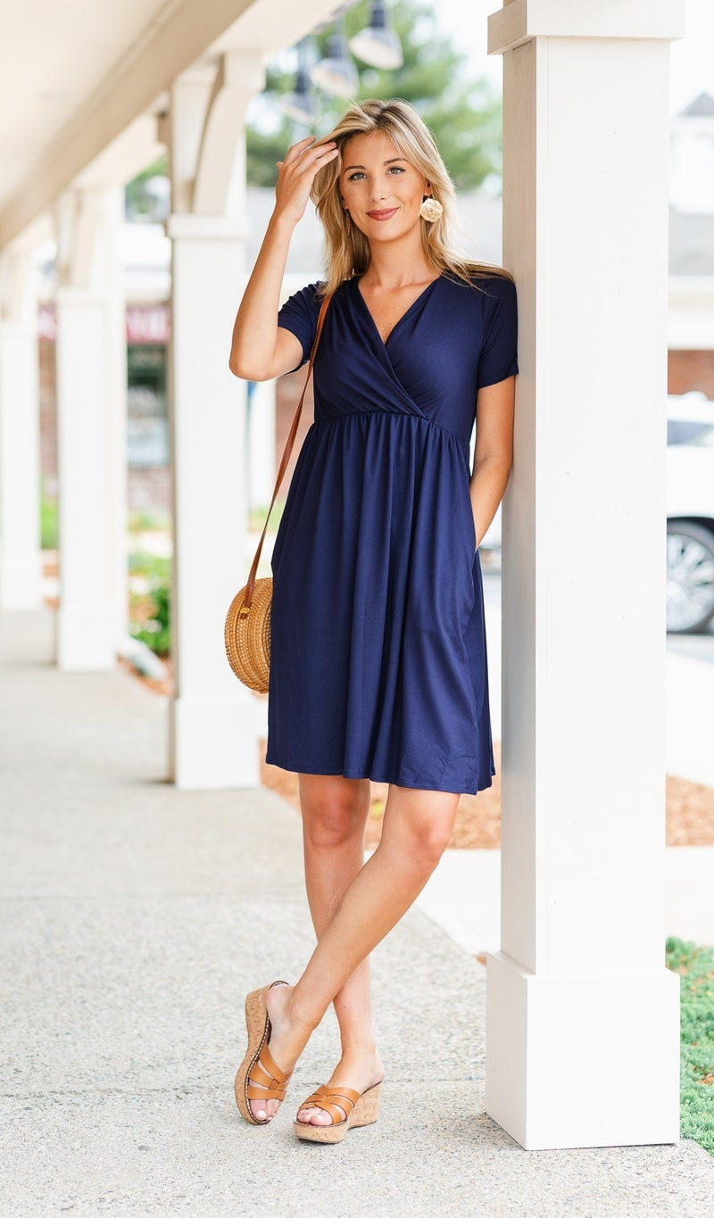 The Little Things Dress, Navy
