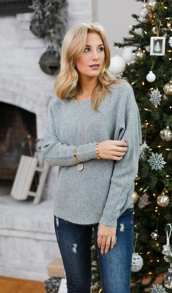 Dress To Impress Sweater, Grey