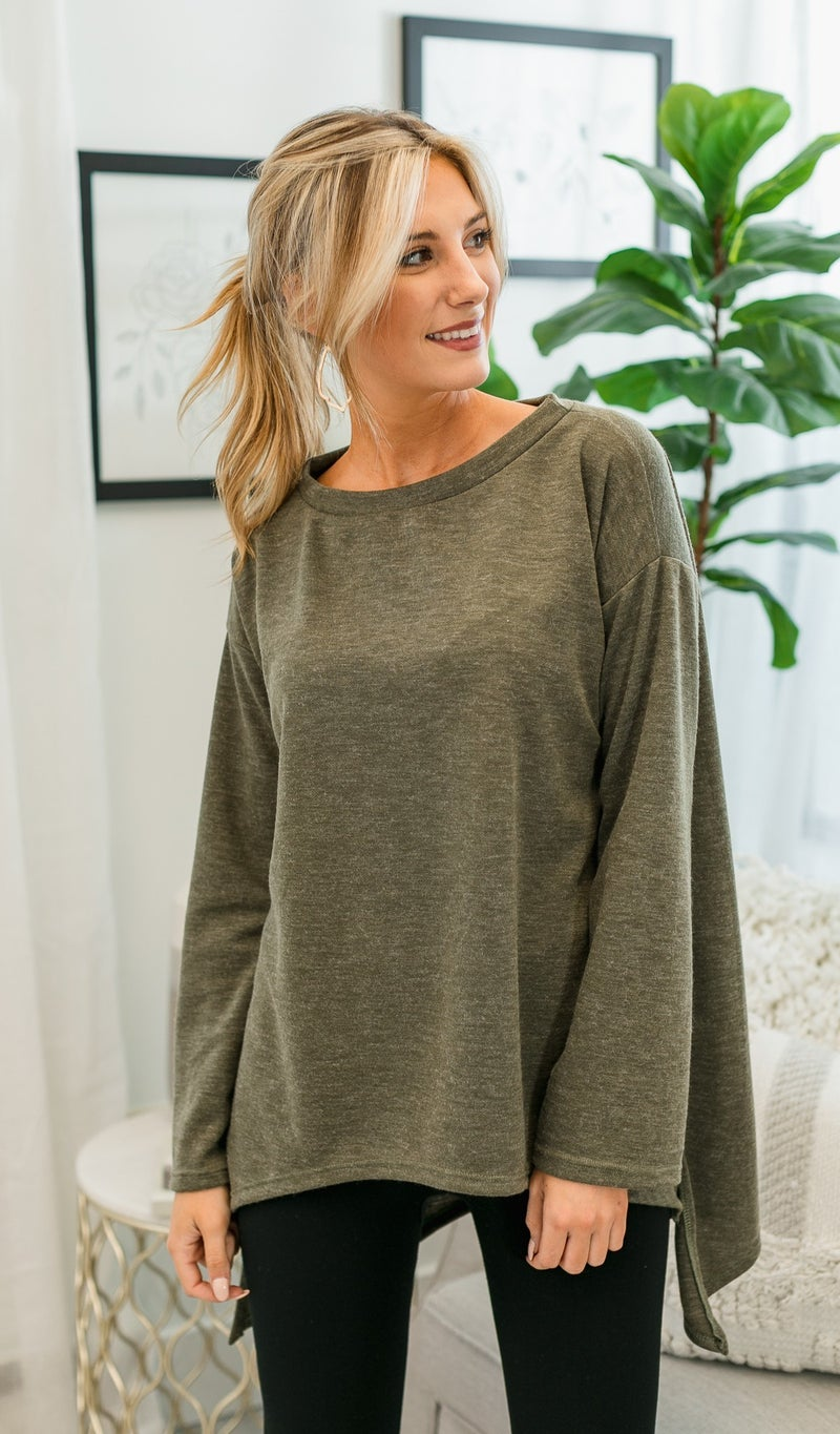 Comfy Day Top, Olive
