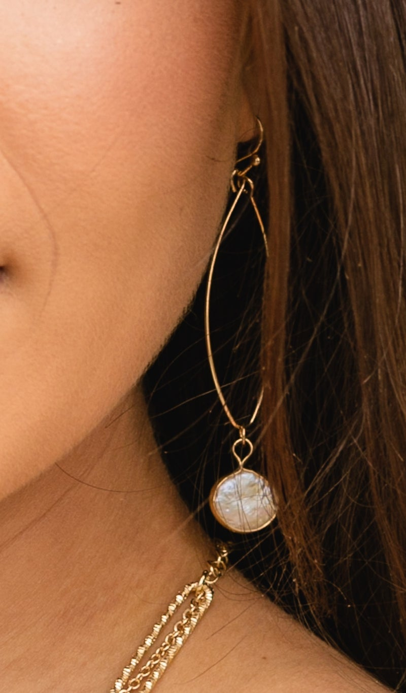 Sweetness and Light Earring, Turquoise, Mother of Pearl, or Rose