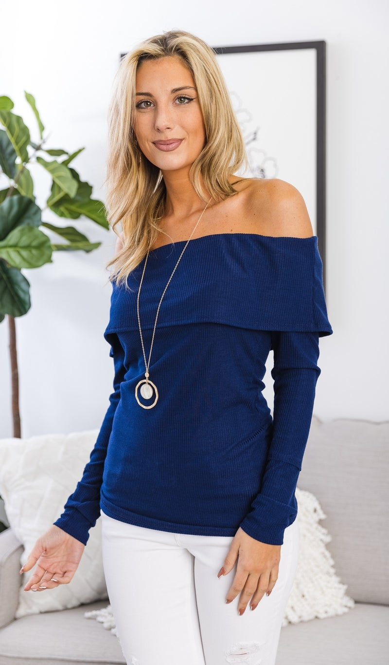 The Lucia Top, Navy