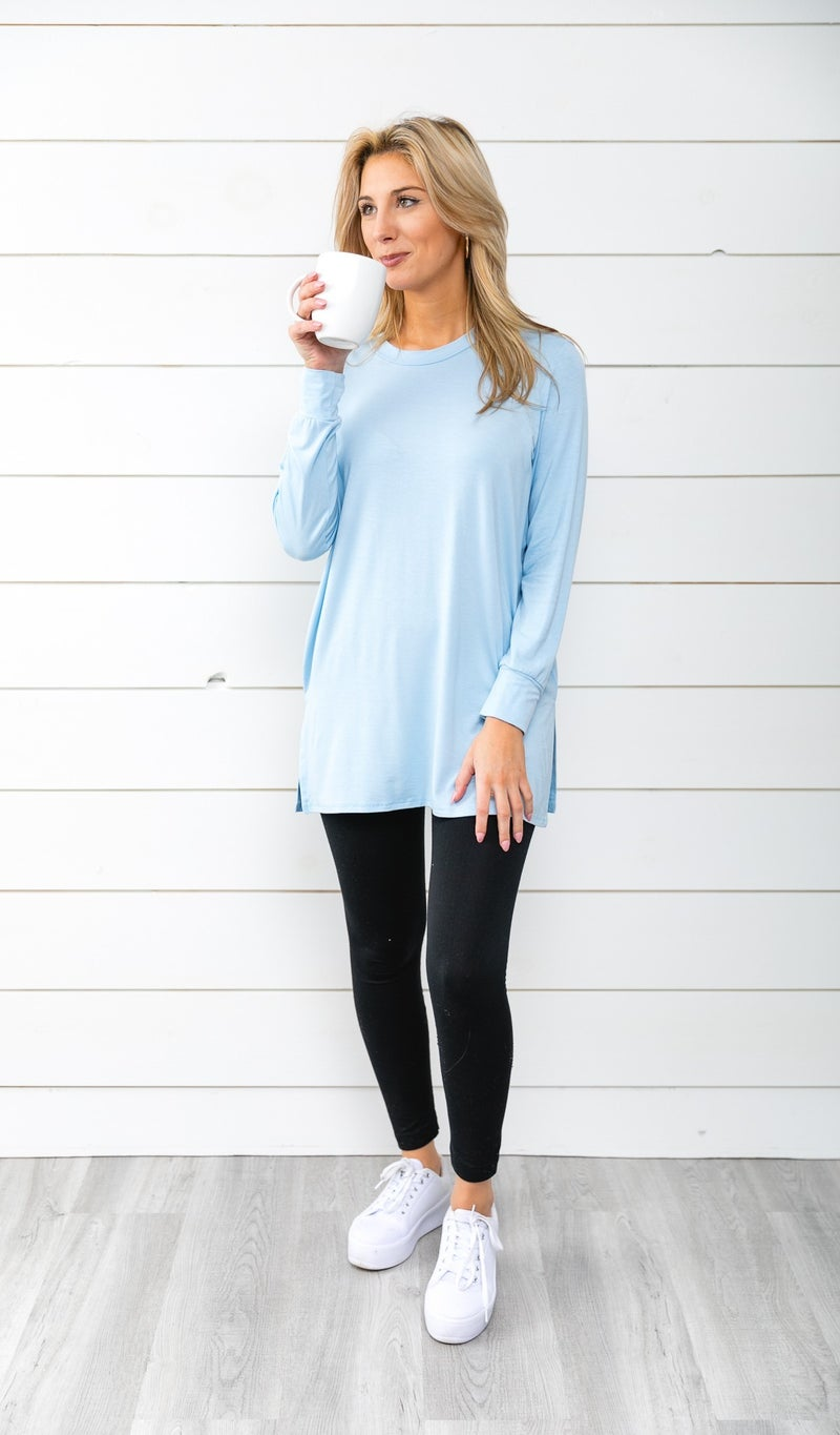 Winter Chill Tunic, Light Blue