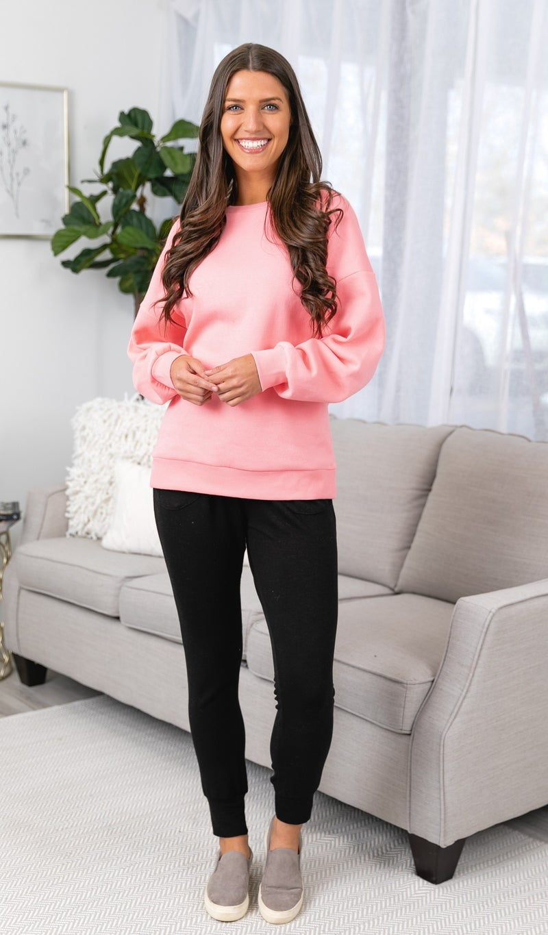 The Mia Sweater, Teal or Pink