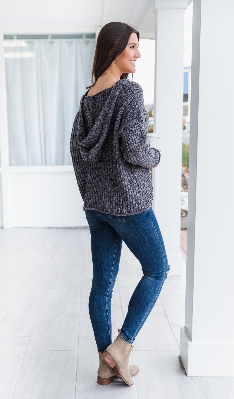 Del Mar Sweater, Charcoal