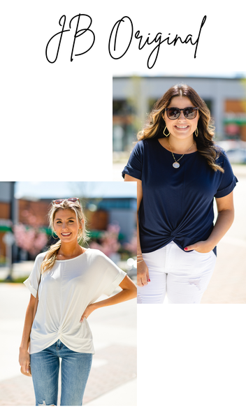 The Shelly Tee, Ivory or Navy