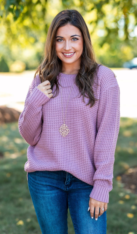 Cozied Up Waffle Knit Sweater, Mocha, Teal or Mauve