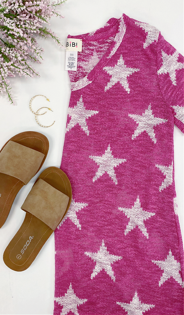 Star Above Top, Fuchsia or Ivory