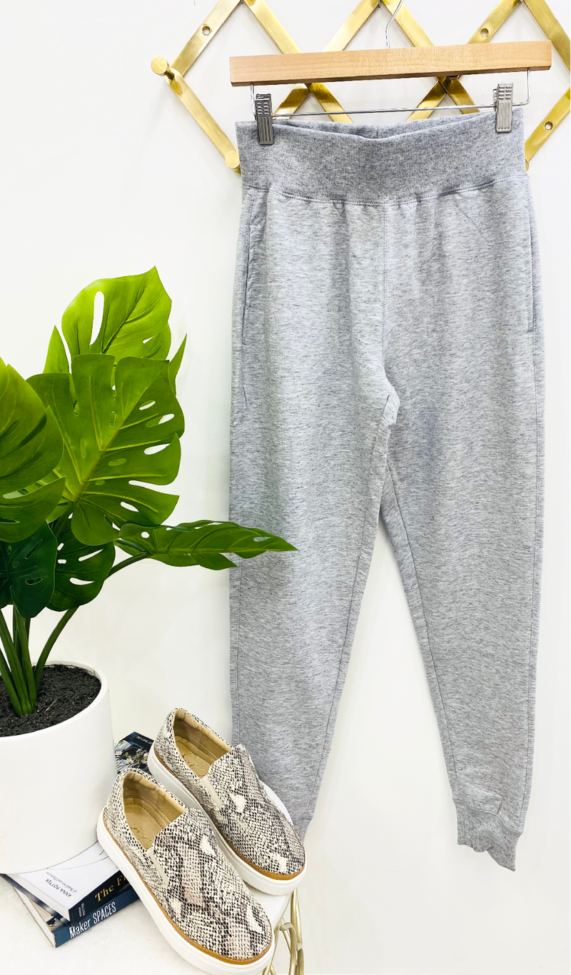 The Runway Jogger, White or Heather Grey