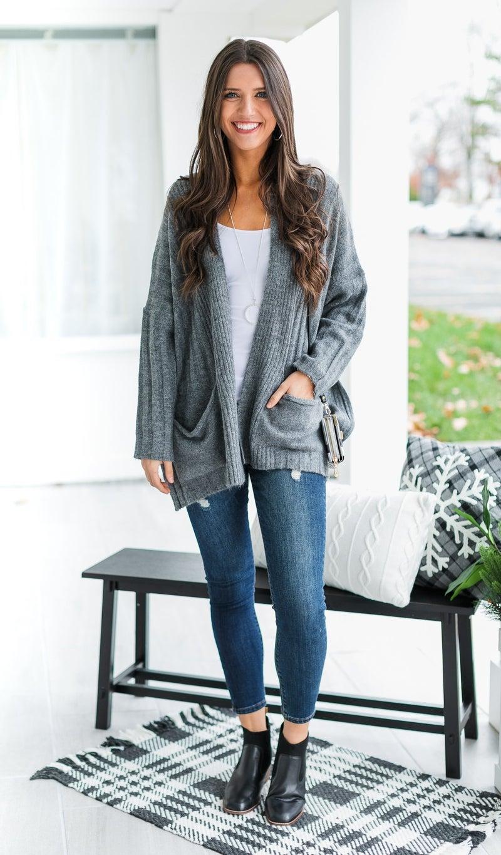 The Sasha Cardigan, Grey