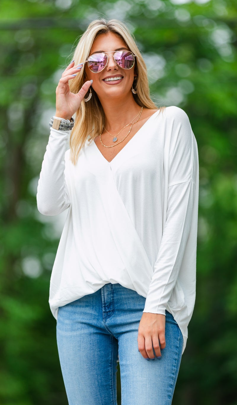 That's A Wrap Top, Green, Stone or White *Final Sale*