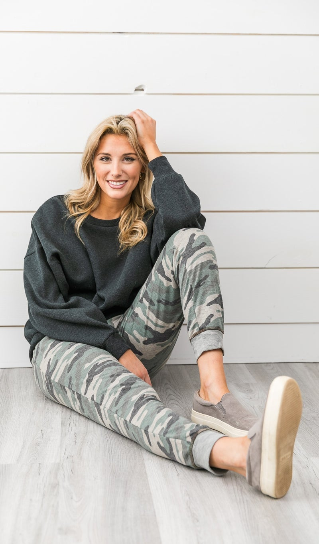 The Mia Sweater, Charcoal