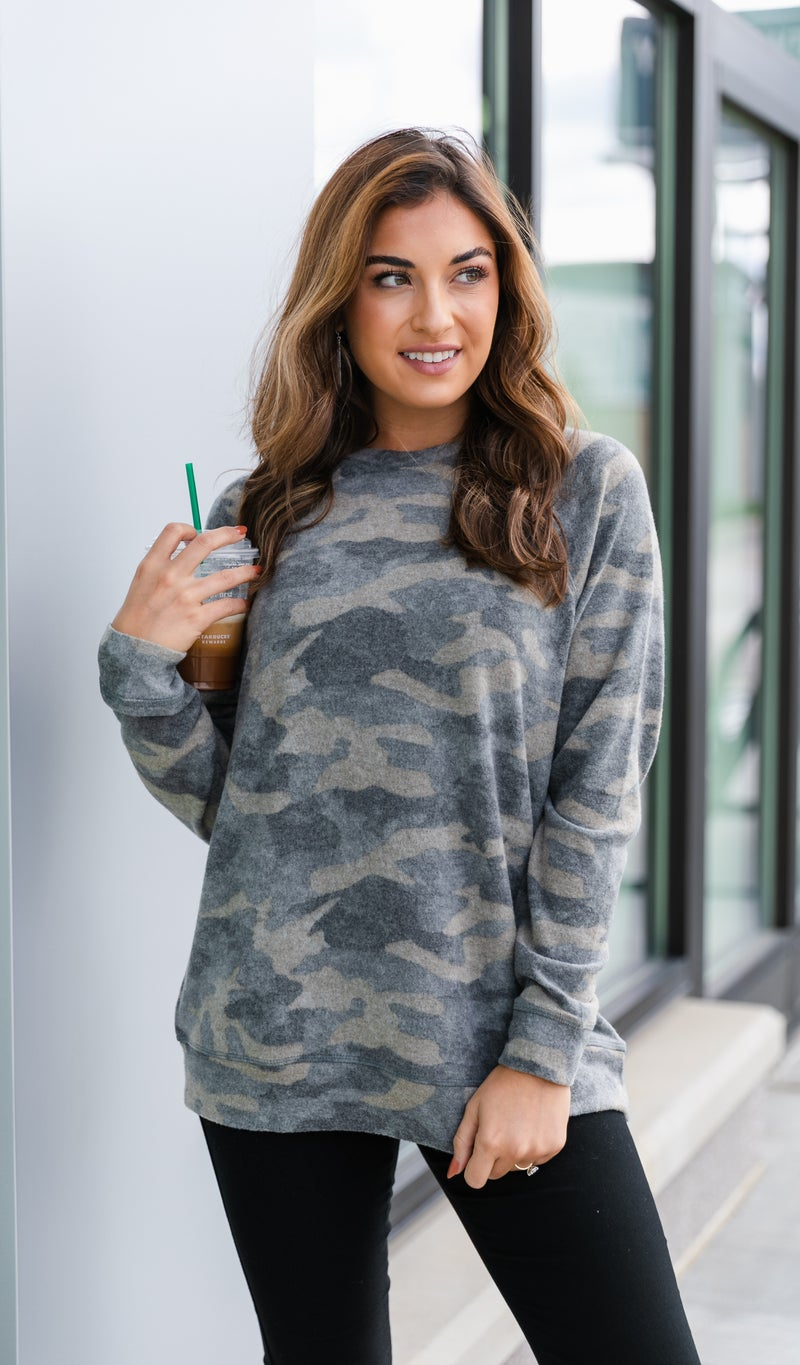 Back At It Again, Camo Top