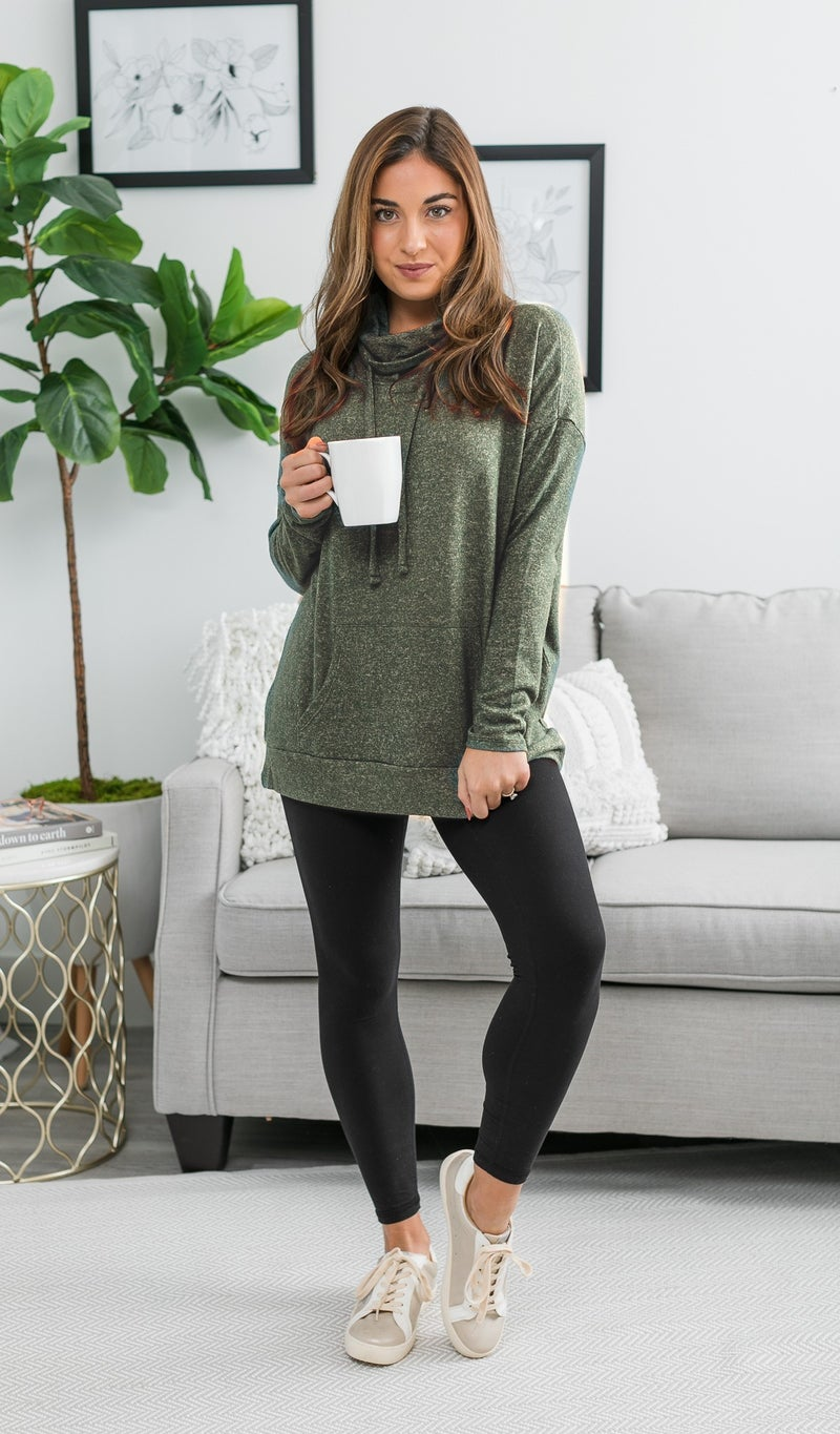 Say YES Hacci Knit Pullover, Olive