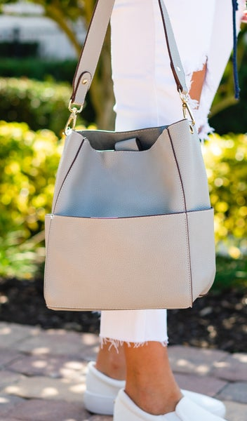 Out For The Day Bag, Ivory, Black, Pink, or Grey