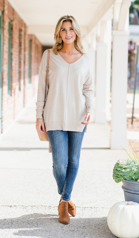 Brookside Sweater, Oatmeal