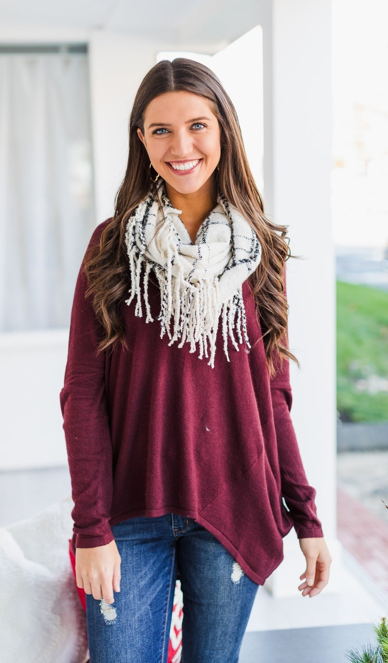 The Pennie Scarf in Ivory