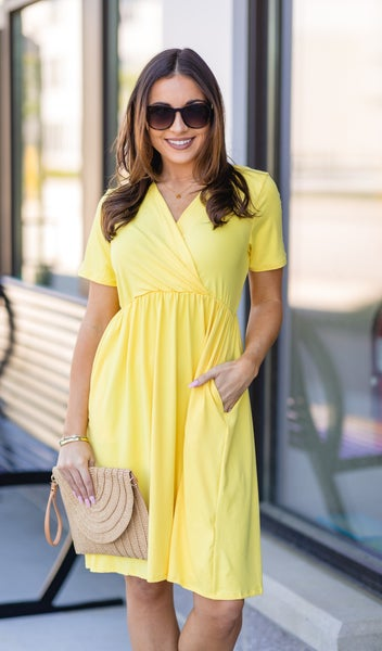 All Occasions Dress, Yellow