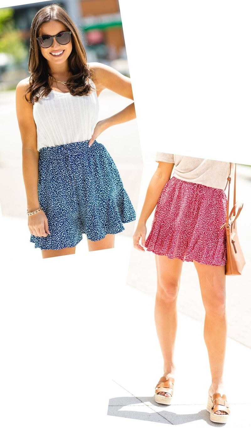 Take Me Home Shorts Print, Red or Navy
