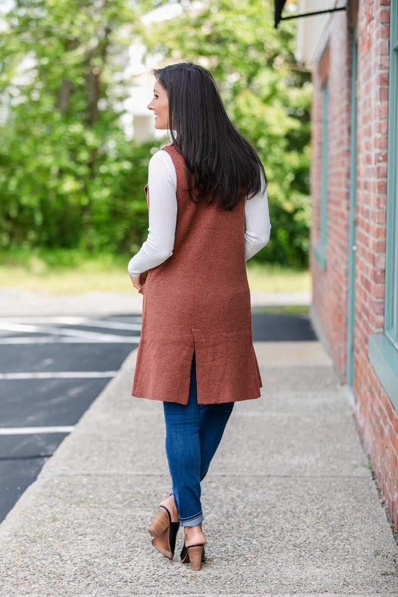 Nothing But Warmth Vest, Clay or Oatmeal