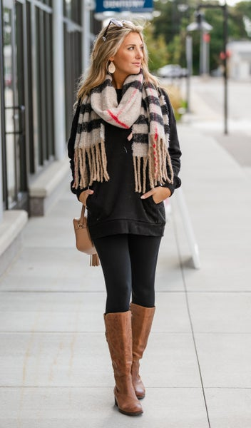 A Touch Of Fringe Scarf, Beige