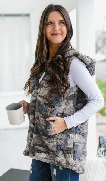That Cool Sherpa Vest, Camo