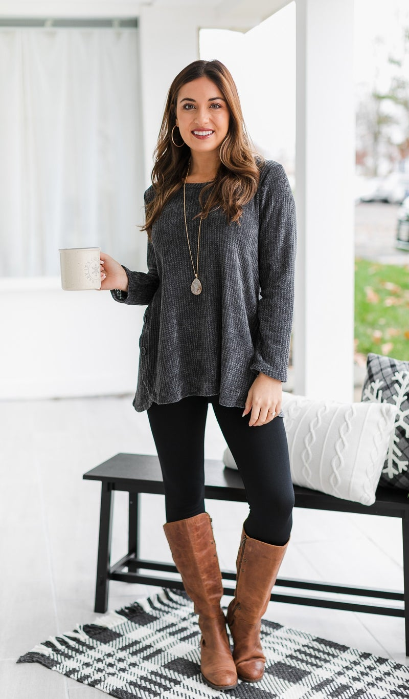 The Reese Top, Charcoal